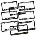 Raised Letter License Plate Frame Logo Branded