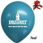 "Logo Branded 11"" Decorator Teal Green Latex Balloons"