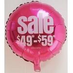 "Logo Branded 18"" Foil Balloons (Rounds, Stars & Hearts)"