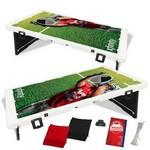 Custom Printed The Official Baggo Bean Bag Toss Game w/ 2 Portable Boards & 8 Bags - 4 Color