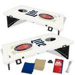 The Official Baggo Bean Bag Toss Game w/ 2 Portable Boards & 8 Bags - 3 Color Logo Branded
