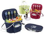 Custom Printed Picnic Set for 4 Cooler Basket