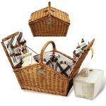 English Style Picnic Basket Set for 4 Logo Branded
