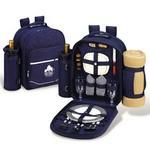 Picnic Backpack for 2 with Cooler & Blanket Custom Printed