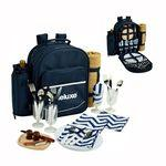 Picnic Backpack Cooler for Four with Blanket Logo Branded