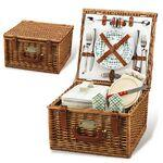 Custom Printed English Style Picnic Basket Set for 2