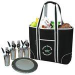 Logo Branded Large Insulated Picnic Tote for 4