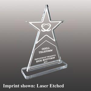 Star Shaped Ultra Vivid Color Acrylic Awards - Large