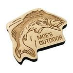 Custom Imprinted Etched Birch Wood Magnets 10 Square Inches
