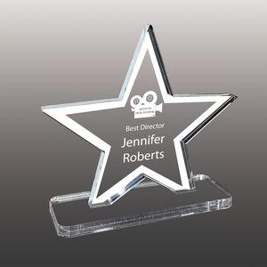 Star Shaped Etched Acrylic Awards - Small