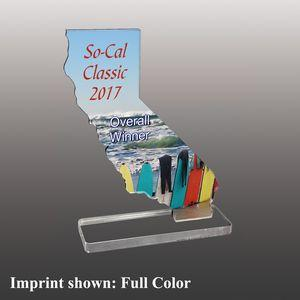 State of California Shaped Full Color Acrylic Awards - Small