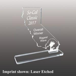 State of California Shaped Etched Acrylic Awards