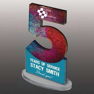 Custom Ultra Vivid Color Acrylic Awards - Small