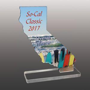 State of California Shaped Full Color Acrylic Awards - Large
