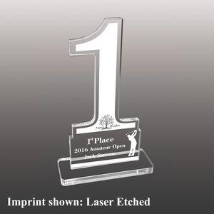 Number One Shaped Acrylic Awards - Small