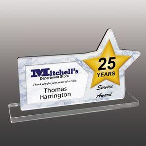 Star Shaped Full Color Acrylic Awards - Large