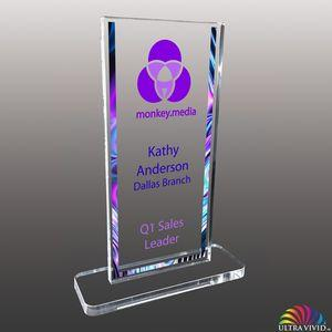 Stock Shaped Ultra Vivid Color Acrylic Awards - Small