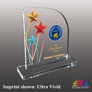 Star Shaped Ultra Vivid Color Acrylic Awards - Small