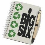 Custom Imprinted Recycled Cardboard Notebook w/Pen