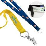 "Custom Imprinted 3/4"" Recycled Screen Printed Lanyard (Direct Import - 7-8 Weeks Ocean)"