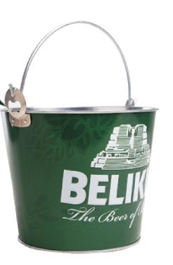 custom engraved 5 quart round bucket whandle and bottle opener brava. Black Bedroom Furniture Sets. Home Design Ideas