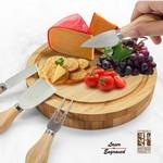 Logo Branded Seville 5 PC Bamboo Cheese Set / Serving Board