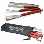 Promotional,Custom Imprinted 3 Piece BBQ Tool Set