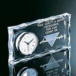 "Custom Printed Clear Acrylic Award Clock (8""x4""x1"")"