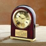 "Piano Finished Wood Award Clock (6 1/2""x5""x2"") Custom Imprinted"