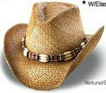 Promotional Outback Off Shaded Tea Stained Straw Cowboy Hat