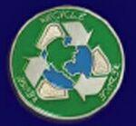 Recycle Earth Lapel Pin Custom Imprinted