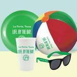 CUP-FUN-KIT-2 - Stadium Cup, Flyer, Beach Ball & Sunglasses Logo Branded