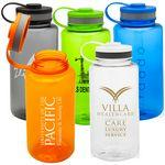 BOTTLE CAPTAIN - 38 oz Tritan water bottle with leashed lid Logo Branded