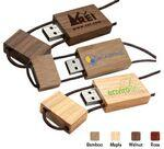 Custom Printed Blocco Wood USB Flash Drive (1 GB)