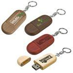 Logo Branded Legno Wood USB Flash Drive w/ Keychain (16 GB)