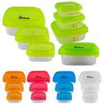 Square Portion Control Containers Logo Branded