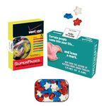 Logo Branded Advertising Mint, Candy & Gum Box Filled with 20-25 Candy Stars
