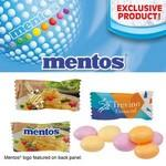 Logo Printed Individually Wrapped Assorted Fruit Mentos Pillow Mints