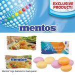 Individually Wrapped Assorted Fruit Mentos Pillow Mints Custom Imprinted