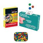 Logo Branded Advertising Mint, Candy & Gum Box Filled with 20-25 Mini Tarts