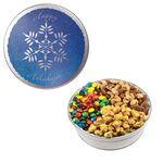 Promotional The Royal Tin w/ M & M' s® , Mixed Nuts, & Caramel Popcorn - Snowflake
