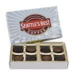 Custom Imprinted Rectangle Custom Candy Box with Reese's and Sea Salt Caramels