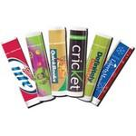 Logo Branded Tropical Punch Premium Lip Balm in Clear Tube