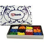 Logo Branded Large Rectangle Custom Candy Box with Corporate Color Jelly Beans
