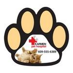 Paw Print Shaped Magnet Logo Branded