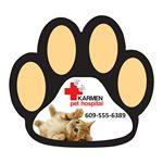 Custom Imprinted Paw Print Shaped Magnet