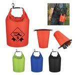 Custom Printed Waterproof Dry Ripstop Polyester Bag With PVC Backing