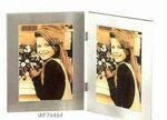 "Custom Printed Picture Frame Collection Simple Silver (4""x6"")"