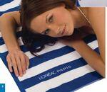 Custom Embroidered Cabana Stripe Loop Terry Beach Towel (Embroidered)