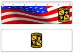 "Custom Imprinted 6"" Ruler - Custom 4 Color Lenticular Design/ Custom Images and Effects"